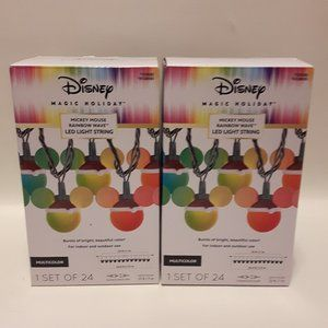 disney magic holiday mickey mouse rainbow wave set
